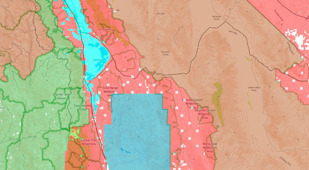 Public land map example