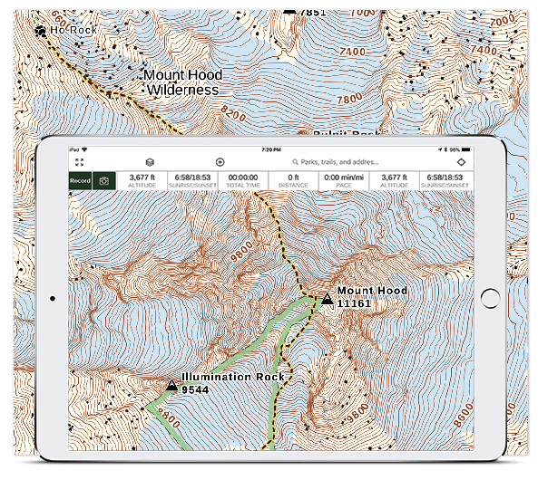 Trail Maps for Backpacking and Hiking