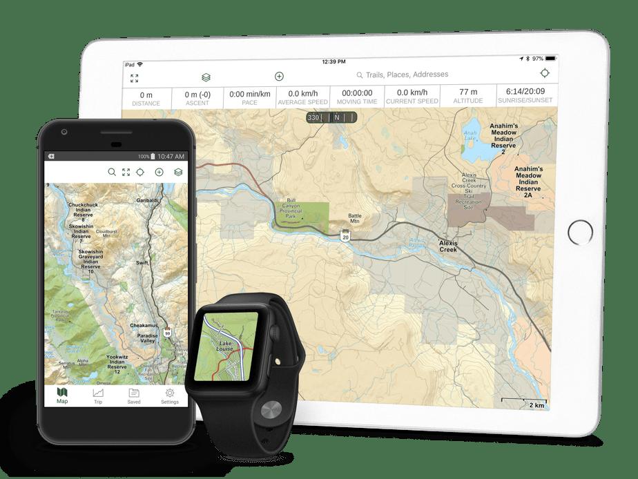 Canada Maps App   Hiking Trails, Hunting, Camping, 4x4 | Gaia GPS